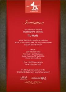 Sports Tournament Invitation